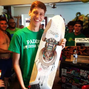 Thanks Shralper's Union and Original Skateboards for the sweet board to give away.
